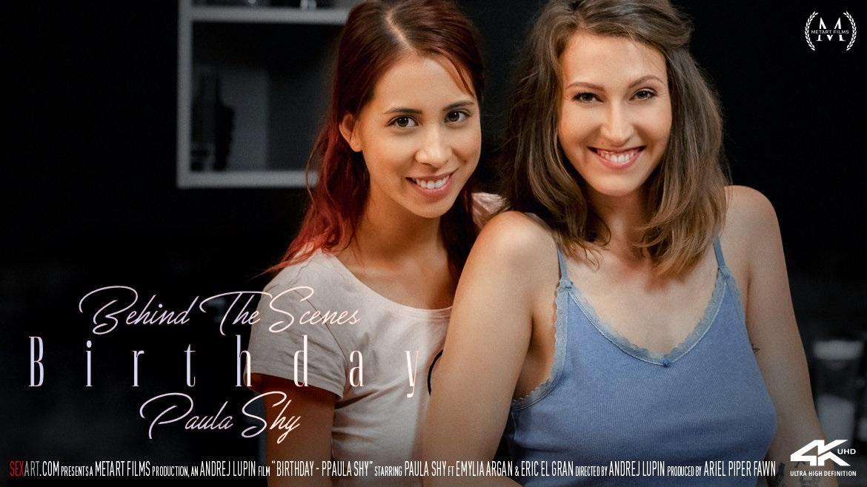 SexArt – Emylia Argan, Paula Shy – Birthday BTS Online Free