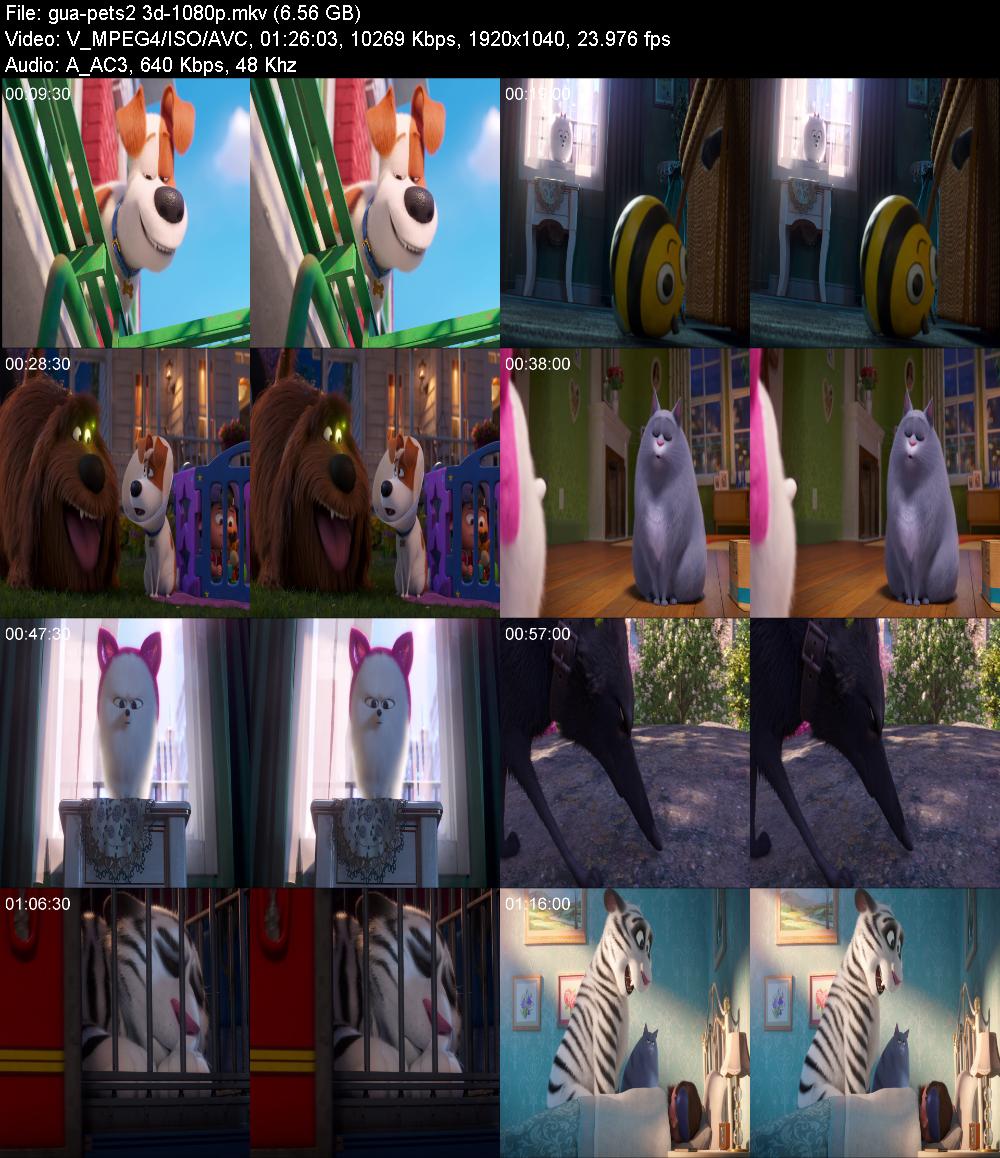 The Secret Life of Pets 2 2019 3D 1080p BluRay x264-GUACAMOLE