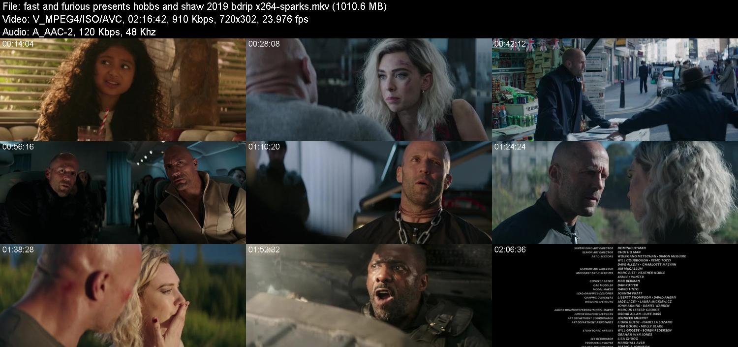 Fast and Furious Presents Hobbs and Shaw 2019 BDRip x264-SPARKS